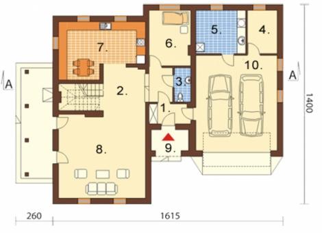 Проект двухэтажного дома rp943
